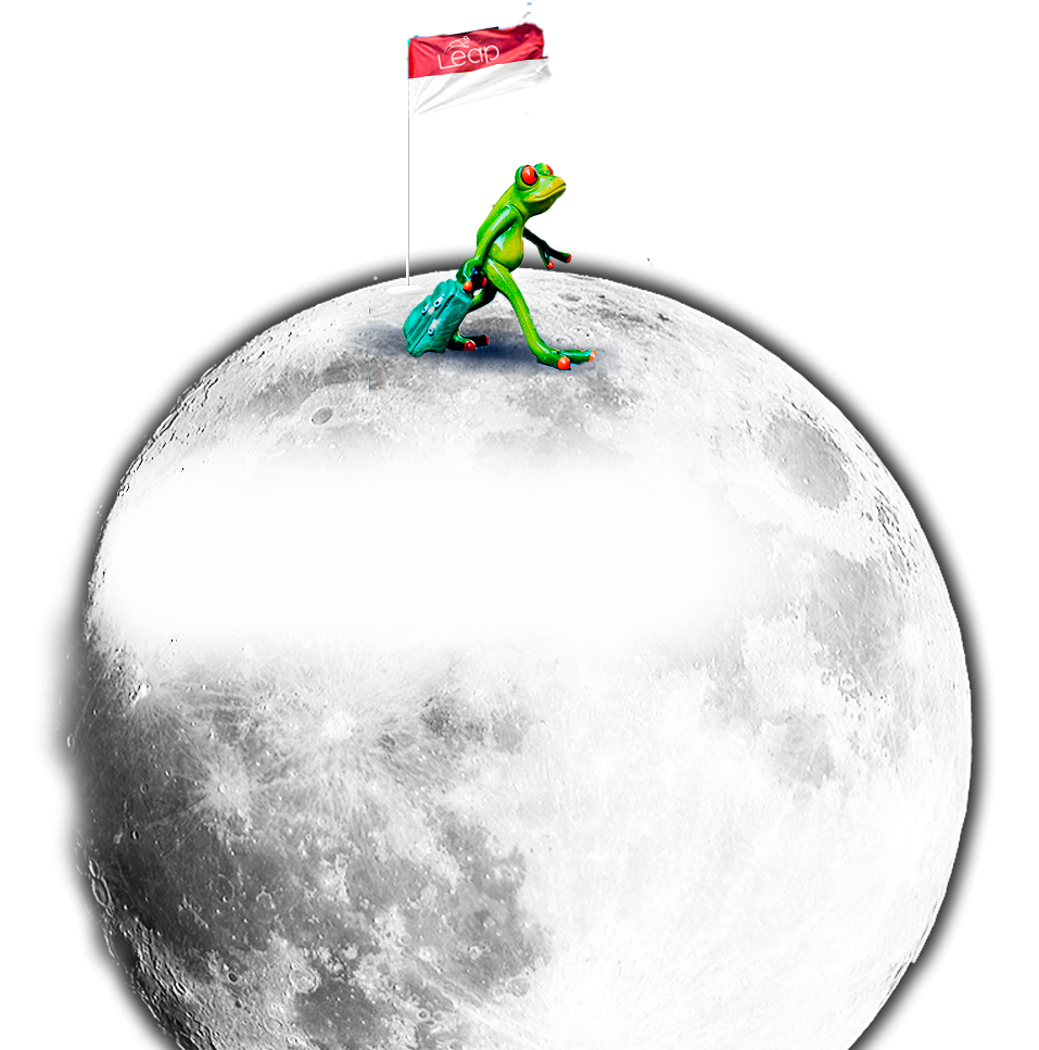 Leap frog over the moon